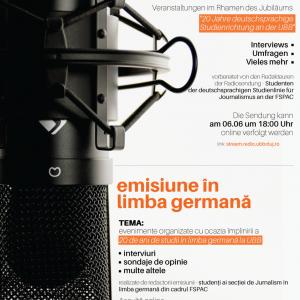 Die deutschsprachige Radiosendung des Ubb Radios // Emisiunea în limba germană a stației de radio UBB