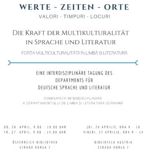 Werte – Zeiten – Orte- Die Macht der Multikulturalität in Sprache und Literatur