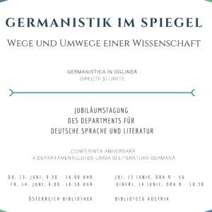 Jubiläumstagung des Departments für Deutsche Sprache und Literatur