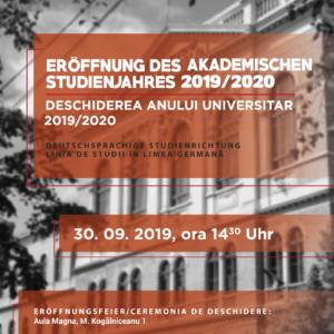 Eröffnung des Akademischen Studienjahres 2019/2020