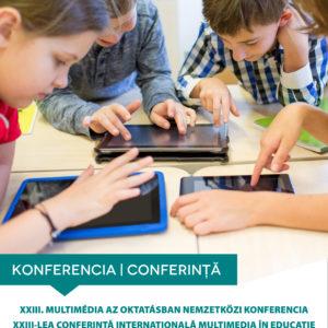 XXIII. Multimédia az oktatásban nemzetközi konferencia