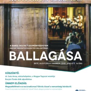 A Babeș–Bolyai Tudományegyetem magiszteri hallgatóinak ballagása