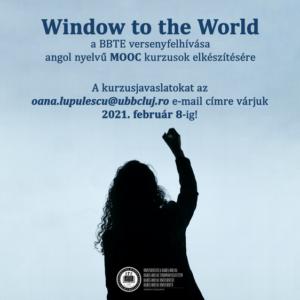 WindoW to the World  – a BBTE versenyfelhívása angol nyelvű MOOC kurzusok elkészítésére