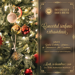 """Concert simfonic extraordinar susținut de Corul și Orchestra Simfonică ale Filarmonicii de Stat """"Transilvania"""""""