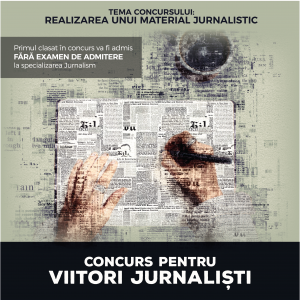 Concurs pentru liceenii pasionați de jurnalism