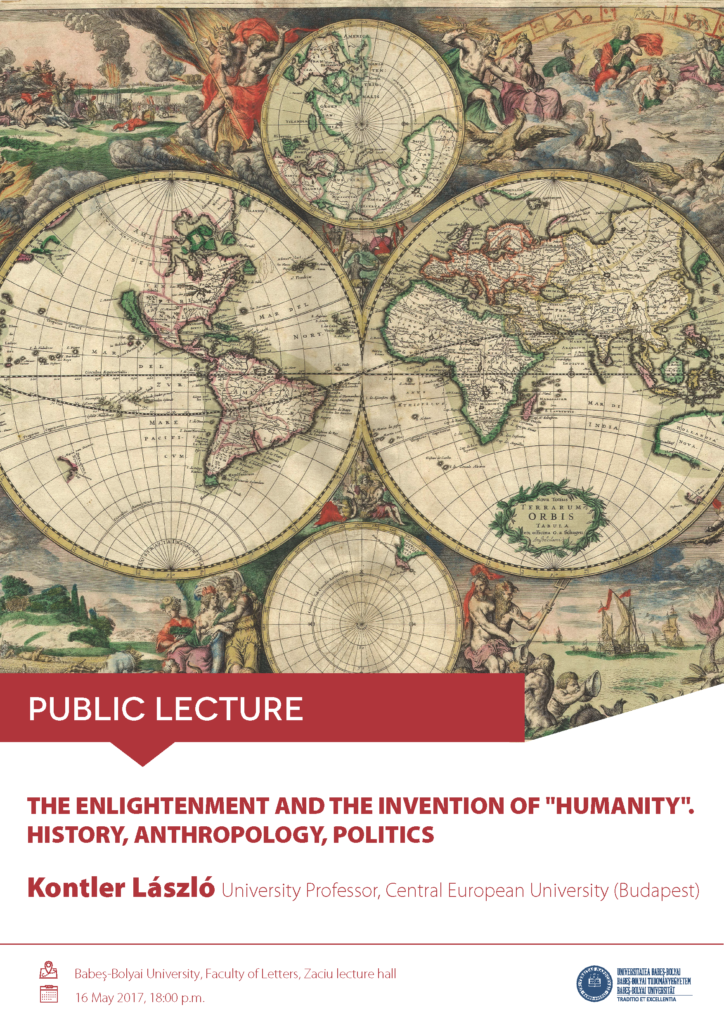 The Enlightenment and the invention of humanity. History, anthropology, politics