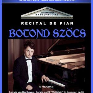 """Recital de Pian, organizat în cadrul Congresului """"ARA at the Great Union Centenary"""", desfășurat la UBB"""