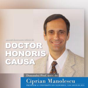 Prof. univ. dr. Ciprian Manolescu - DHC al UBB