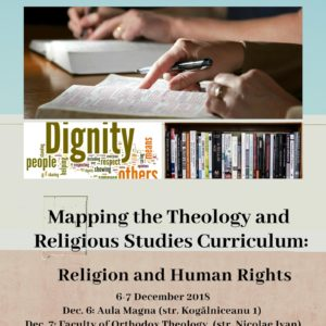 """Conferința Internațională: """"Mapping the Theology and Religious Studies Curriculum: Religion and Human Rights″, la UBB"""