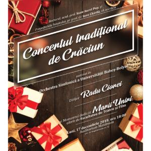 Concert tradițional de Crăciun, la UBB