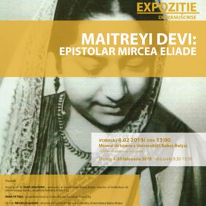 """Vernisajul expoziției de manuscrise """"Maitreyi Devi: Epistolar Mircea Eliade"""", organizat la UBB"""