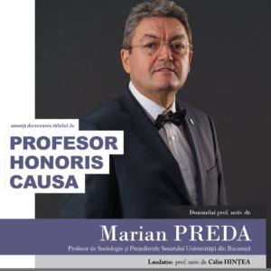 Prof. univ. dr. Marian Preda - PHC al UBB