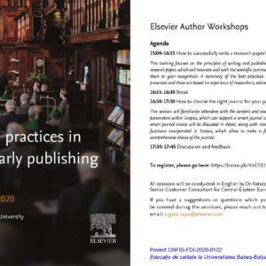 "Workshop-ul cu tema ""Good practices in scholarly publishing"", la UBB"