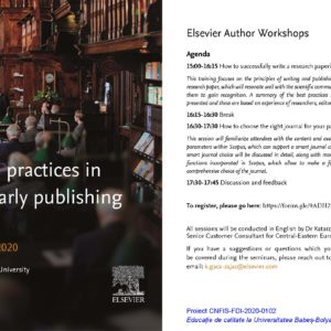 Good practices in scholarly publishing workshop at UBB