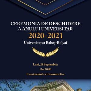 Deschiderea anului universitar 2020-2021 la UBB