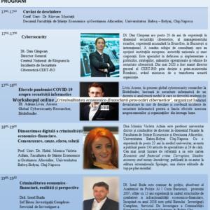 """Workshopul online """"Criminalitatea economico-financiară-provocări cibernetice"""", organizat la UBB"""