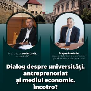 Dialog despre universități, antreprenoriat și mediul economic – în cadrul programului Studium Generale a Institutului STAR-UBB