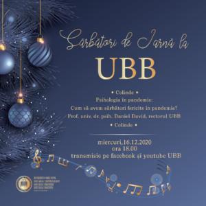 Sărbători de iarnă la UBB