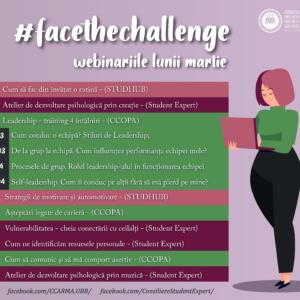 #facethechallenge - webinariile lunii martie