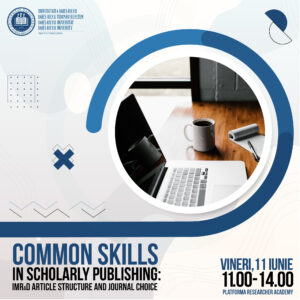 Common skills in scholarly publishing: IMRaD article structure and journal choice, la UBB