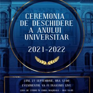 Deschiderea anului universitar 2021-2022, la UBB