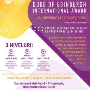 "Programul ""The Duke of Edinburgh`s International Award"", desfășurat la UBB"